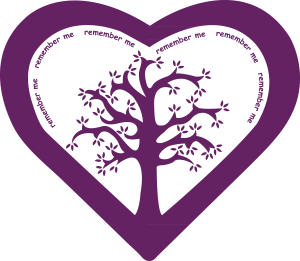 In memory heart illustration