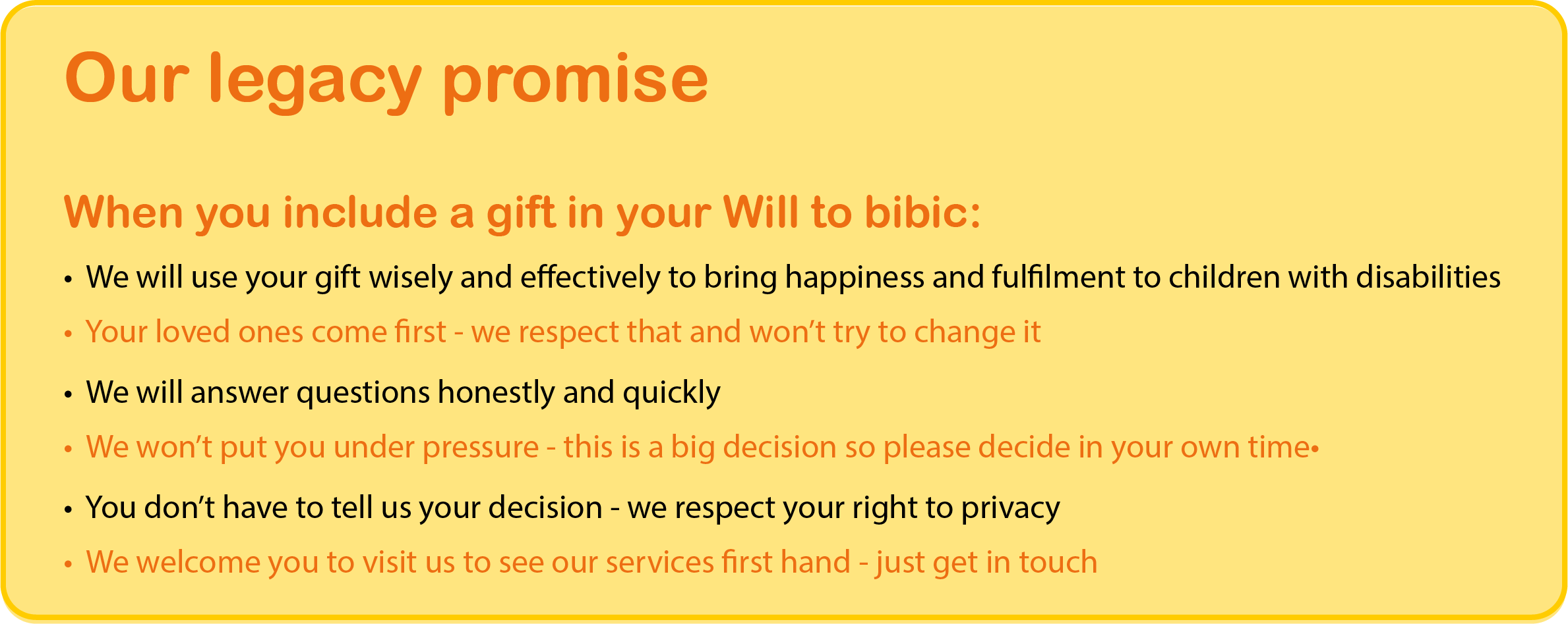 Legacy promise