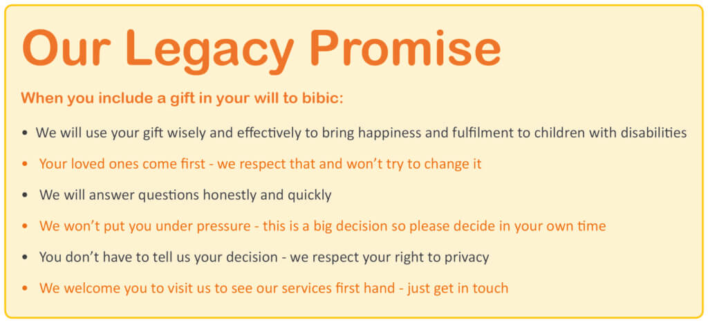 Our Legacy Promise bibic